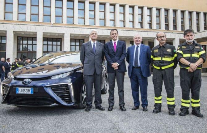 Toyota, la tecnologia a idrogeno per i VVFF