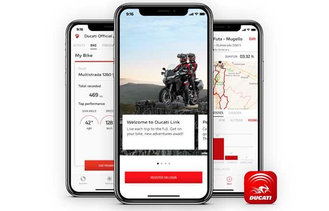 Ducati Link App, connettività per i centauri