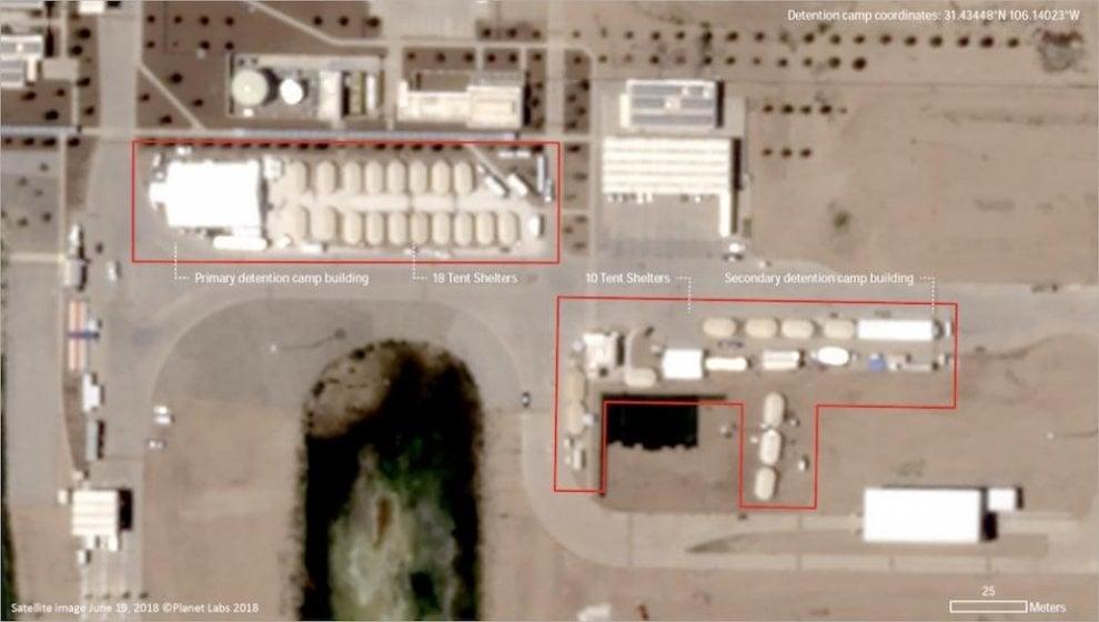 Texas, ecco le tende dove sono detenuti i bambini: le immagini satellitari