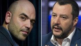 L'ossessione di Matteo Salvini (e della destra) per la scorta di Saviano