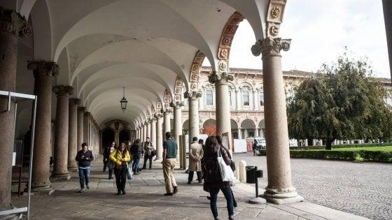 Un'immagine dei chiostri della Statale di Milano