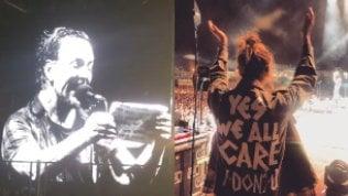 """Pearl Jam, Vedder alla moglie:""""Qui il nostro primo incontro"""""""