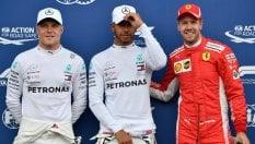 Prima fila tutta Mercedes. Pole di Hamilton, Bottas è secondo.Terzo posto Vettel