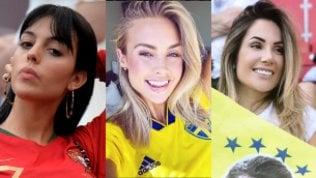 Il Mondiale delle Wags: gliamori dei calciatori in tribuna
