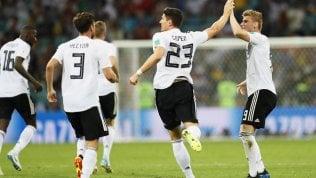 Germania vince al 95', Svezia sconfitta 2-1· Rep Tv L'esultanza tedesca fa infuriare il ct scandinavo