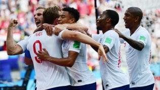 Live Inglesi per gli ottavi Inghilterra-Panama 6-0.h17 Giappone-Senegalh20 Polonia-Colombia.Germania vince al 95', Svezia sconfitta 2-1