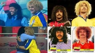 Higuita e Valderrama ai Mondiali:stessi capelli, stessa amicizia