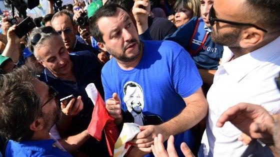 """Pontida, bagno di folla per Salvini. """"Governeremo per i prossimi 30 anni. Farò la Lega delle Leghe"""""""