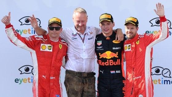 F1, Gp Austria: vince Verstappen, Raikkonen secondo. Vettel è terzo e torna leader del mondiale