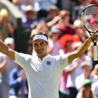 Wimbledon, esordio senza problemi per Federer e Cilic. Fuori la Stephens, Serena soffre ma passa