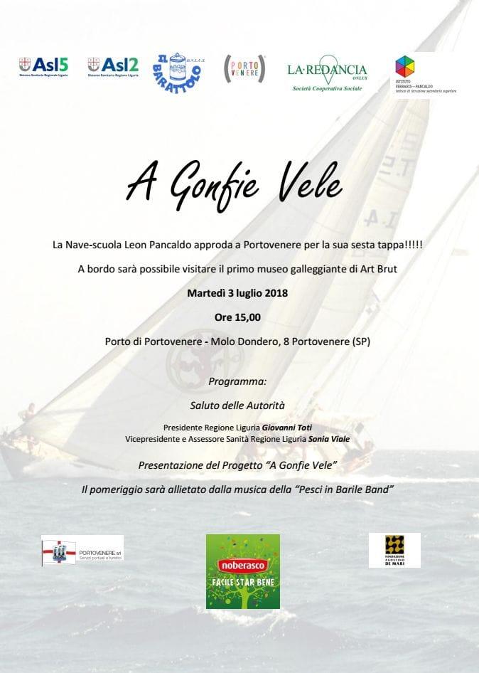 """Il progetto """"A gonfie vele"""" approda a Portovenere"""