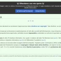 Wikipedia Italia si blocca contro la direttiva Ue sul diritto d'autore
