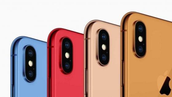 Nuovi iPhone in tanti colori, anche blu e arancione