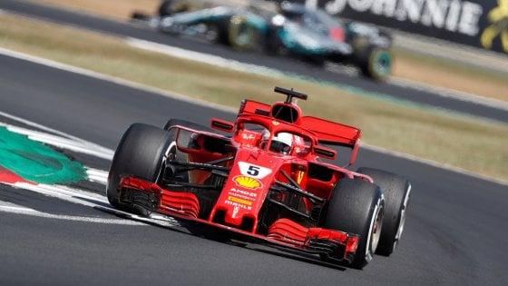 Vettel festeggia in casa di Hamilton. Raikkonen terzo per la festa Ferrari