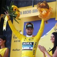Tour de France, Sagan si prende tappa e gialla. Colbrelli beffato in volata