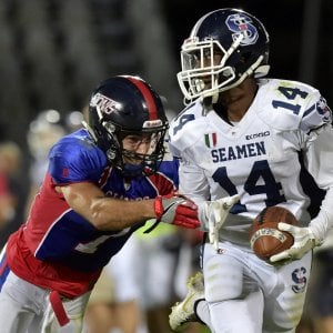Football, i Seamen Milano firmano il poker, ma che bravi i Giants Bolzano