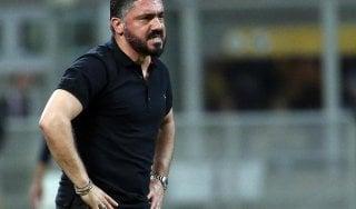 """Milan, Gattuso: """"Abbiamo tutto, manca solo la tranquillità societaria"""""""