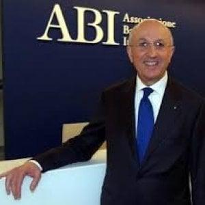 Il presidente dell'Abi Antonio Patuelli