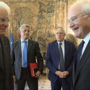 Cardani (a destra) con Mattarella