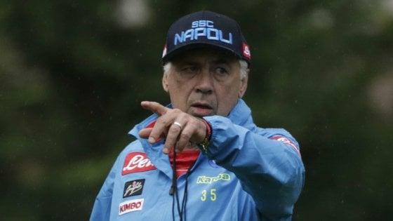 """Napoli, Ancelotti: """"CR7 non ci fa paura, noi abbiamo più fame"""". Meret si fa male: fuori 40 giorni"""