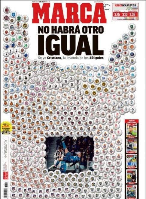 Ronaldo alla Juve: le prime pagine dal mondo