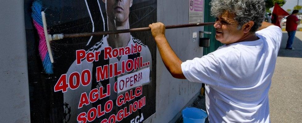 Caso Ronaldo i lavoratori di Melfi scendono in campo