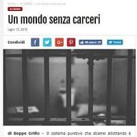 """Beppe Grillo sogna un mondo senza carceri: """"Servono misure alternative"""""""