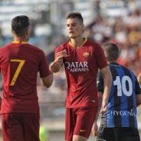 Roma: tris Schick, doppio Dzeko. Il test con il Latina finisce 9-0