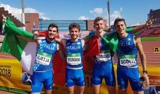 Atletica, Mondiali under 20: primo storico oro in staffetta per l'Italia