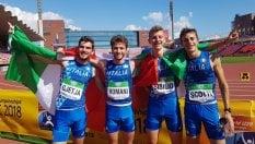 Risveglio azzurro: oro ai mondiali Under 20 per la staffetta 4x400