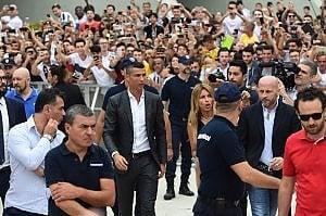 """La prima giornata """"juventina"""" di Cristano Ronaldo in diretta"""