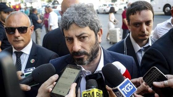 """Dl dignità, Fico: """"Il complotto? Se lo dice Di Maio, gli credo"""". E sulle dimissioni di Boeri: """"Deve parlarne con Conte"""""""
