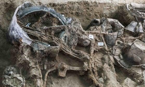 """Scoperta a Corinaldo la grande tomba di un """"principe guerriero"""" piceno"""