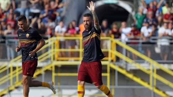 """Roma, De Rossi: """"Con Ronaldo la Juve parte 2-3 piedi avanti"""""""