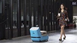 Un robot-porter in aeroportoe il trolley non lo porti più tu