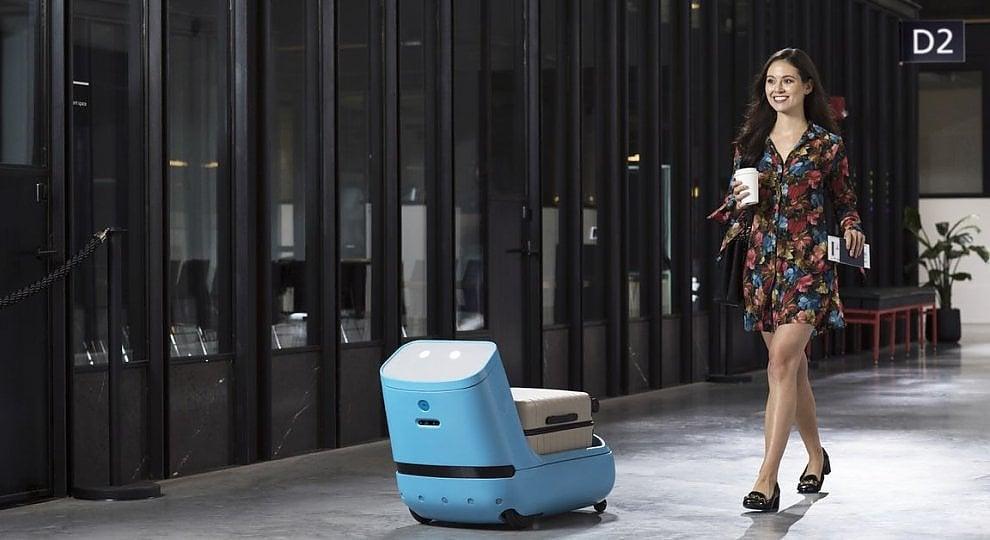 Robot-porter in aeroporto: e il bagaglio non pesa più
