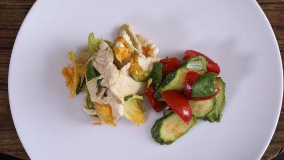 Gli straccetti di pollo incontrano le verdure e profumano di zenzero
