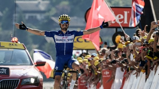 Tour de France: prima alpina ad Alaphilippe. van Avermaet, capolavoro in giallo