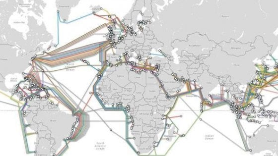 L'innalzamento degli oceani può sommergere i cavi Internet in soli 15 anni