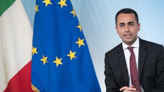 Il vicepremier Luigi Di Maio