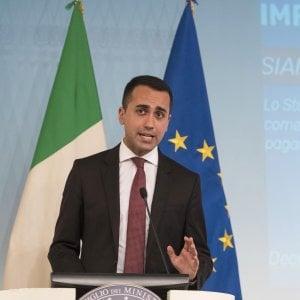 ll ministro di Lavoro e Sviluppo economico, Luigi Di Maio
