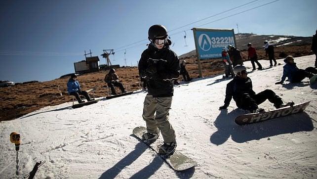 Una sciata ad agosto, nel Lesotho -   foto