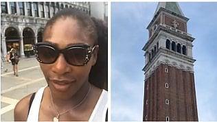 """Serena Williams a San Marco:""""Che piazza è questa?"""""""