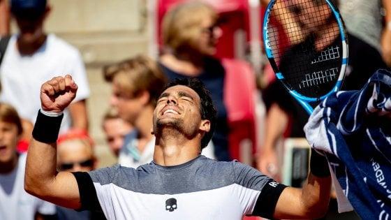 Tennis, grande Italia: a Bastad trionfo Fognini, a Umago vince Cecchinato