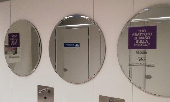 Scritte nei bagni ikea per aiutare le donne vittime di violenza: u201cè