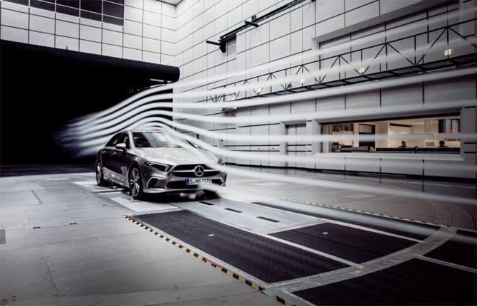 Mercedes Classe A, campionessa di aerodinamica
