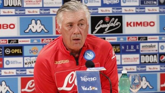 """Napoli, Ancelotti: """"Cavani? Ho già una squadra fantastica"""""""