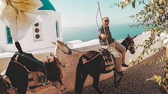 """""""Riposo all'ombra, acqua e limiti di peso"""". Più tutela per gli asini da trasporto di Santorini"""