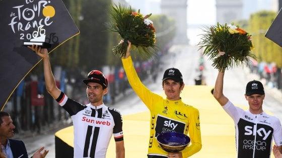 Tour de France, Parigi incorona Thomas: a Kristoff l'ultimo sprint