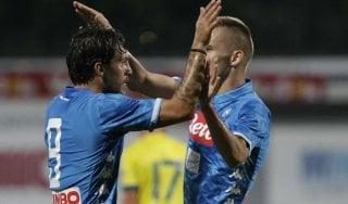 Il Napoli cresce ancora: 2-0 al Chievo, gran gol di Verdi